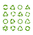 recycle icons circle arrows product reuse vector image