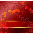 Red science background with molecules vector image vector image