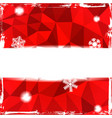 red triangle grunge christmas background vector image