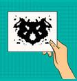 rorschach test pop art vector image vector image