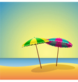 sandy beaches vector image vector image