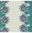 Seamless vertical floral ornam vector image vector image
