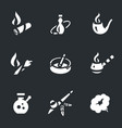 set of smoking icons vector image