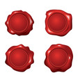 set red wax seals vector image