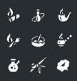 set smoking icons vector image