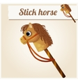 Stick horse toy Cartoon vector image vector image