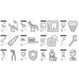 Stomatology line icon set vector image vector image