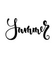 summer hand drawn calligraphy and brush pen vector image vector image