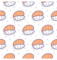 sushi salmon seamless pattern vector image vector image