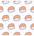 sushi salmon seamless pattern vector image