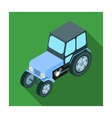 Tractor icon in flat style isolated on white vector image vector image