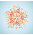 Tribal sun design vector image vector image