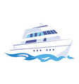 two-deck ship on water vector image vector image