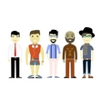 Types of Men different characters set collection vector image vector image