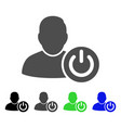 user log off flat icon vector image vector image