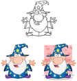 Wizard With Open Arms Collection vector image vector image