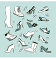 Womens shoes set vector image vector image