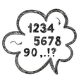 hand drawn doodle numbers mathematical and vector image