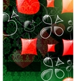 vector abstract play card background vector image