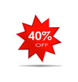 40 off sale discount banner special offer vector image vector image
