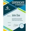 Achievement award certificate design vector image vector image