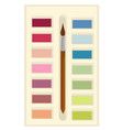 aquarelle paints and brush for drawing school vector image