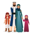 Arabian family Arabian man and woman with boy and vector image