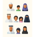 arabic families vector image