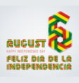 august 6 bolivia independence day congratulatory vector image vector image