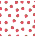 background of strawberries isolated icon design vector image