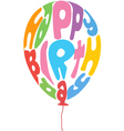 birthday balloon vector image vector image