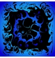 Blue ice frame with curls vector image