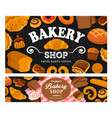 bread and bakery pastry poster vector image vector image