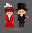 british in national dress with a flag victorian vector image