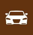 car icon on white background vector image