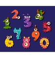 Cartoon funny numbers or comic digits set vector image