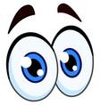 cartoon pair of eyes vector image vector image