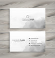 clean white business card design vector image vector image