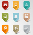 Colorful set web retro pointers for transport vector image