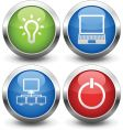 computer buttons vector image vector image