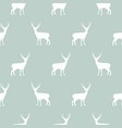 deer blue and white simple seamless pattern vector image