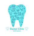 dental clinic shape tooth poster vector image vector image