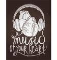 Design Of Music Poster With Anatomical Heart vector image vector image