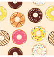 donuts baccground vector image vector image