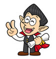dracula character quality warranty and victory vector image vector image