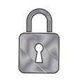 drawing padlock lock security protection digital vector image vector image