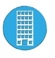 emblem building line sticker image vector image vector image