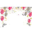 happy confetti helium balloon isolated in the vector image vector image