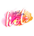 holi festival design poster vector image vector image