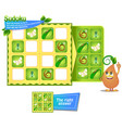 iq sudoku game insects vector image vector image
